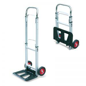 AT90 nešiojamas aliuminio sulankstomas sunkiųjų maišų sunkvežimių vežimėlių vežimėlis